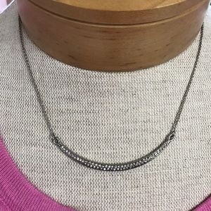 Crescent crystal necklace